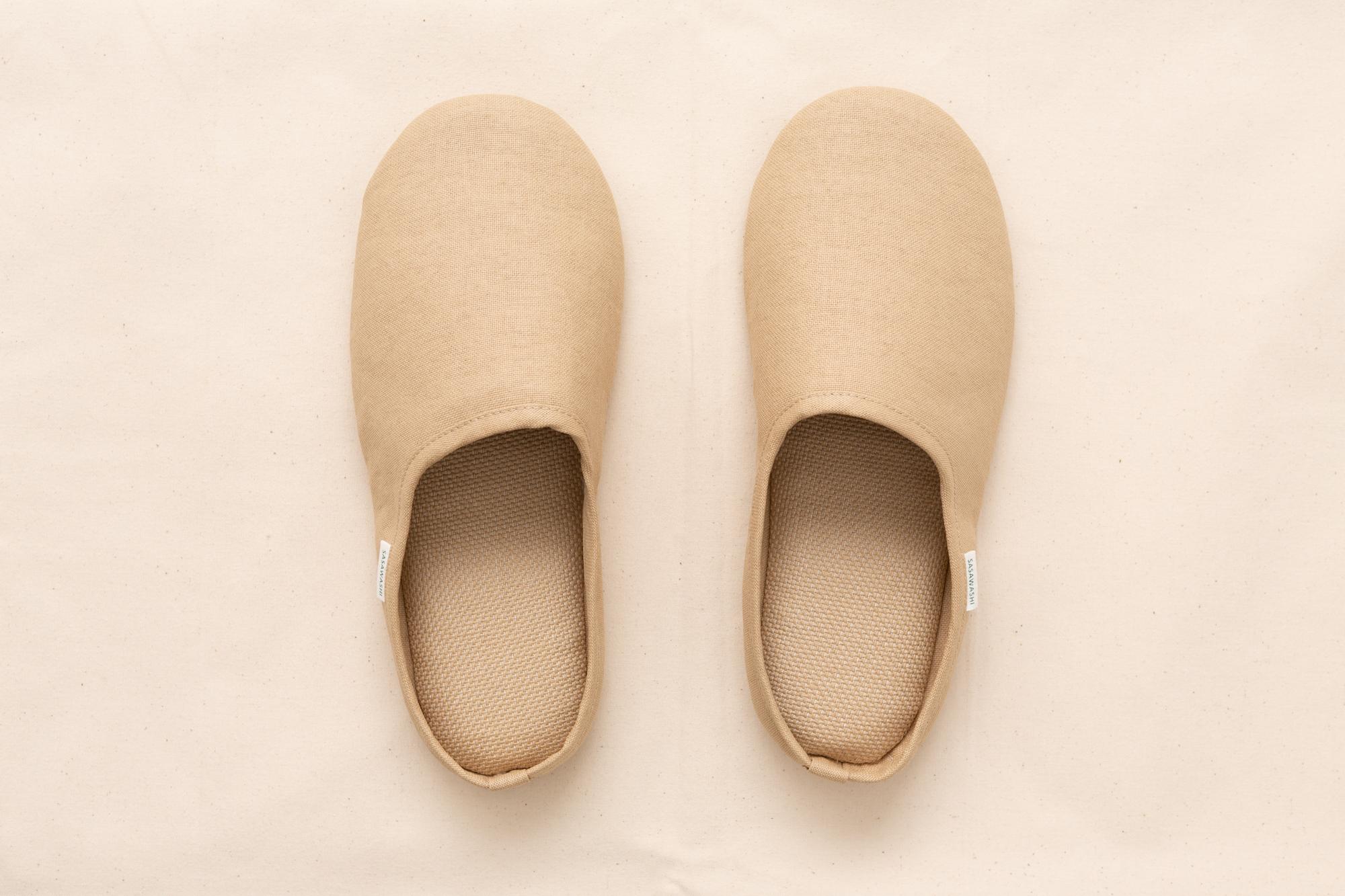Morihata Sasawashi Room Shoes, Camel