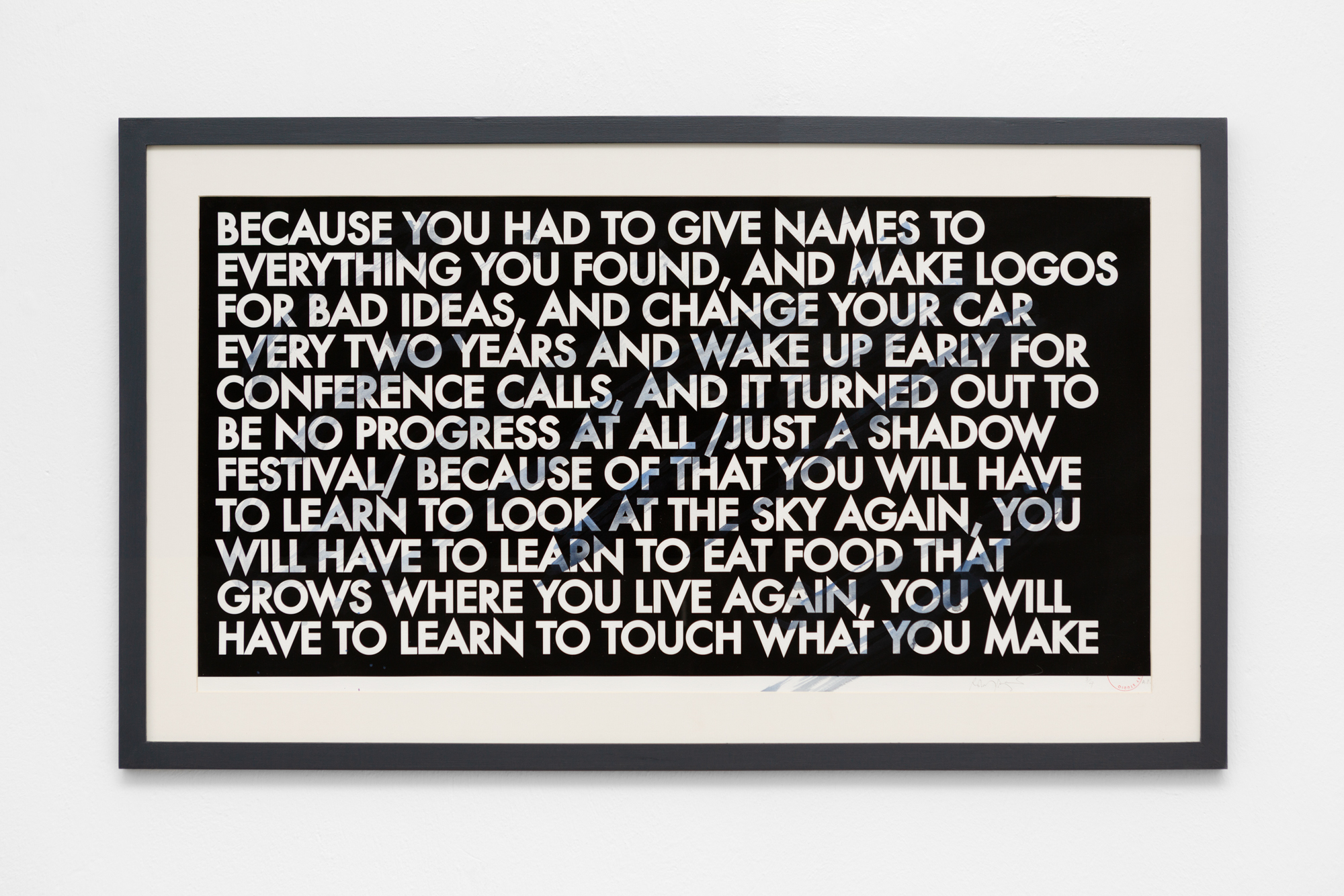 Robert Montgomery, Touch What You Make 2012-2016
