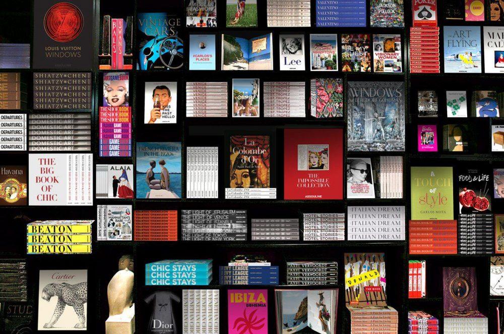 Assouline books on a shelf