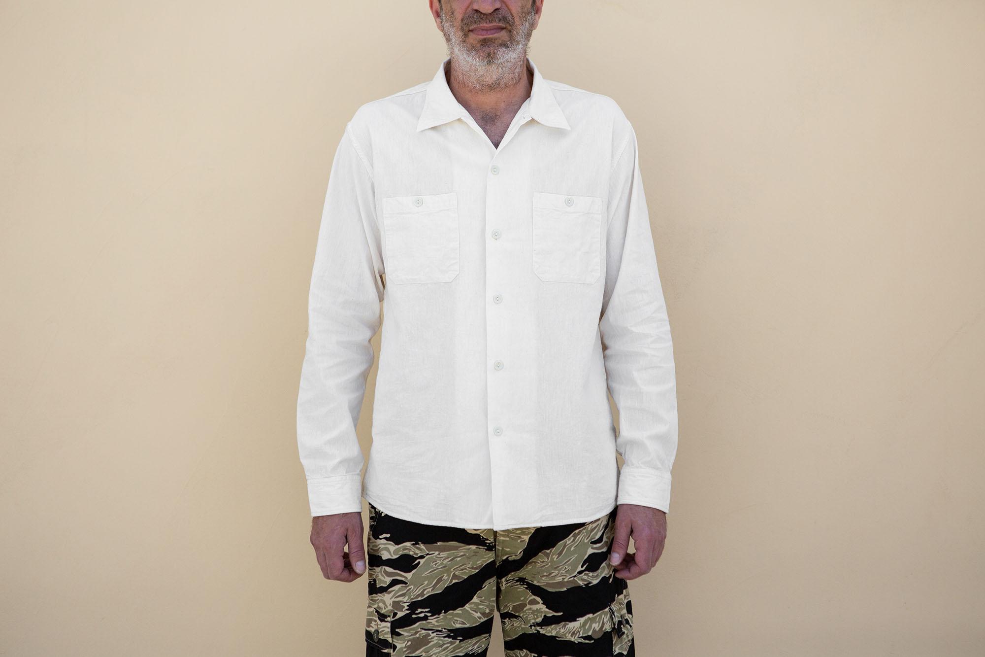 Chambray Work Shirt White
