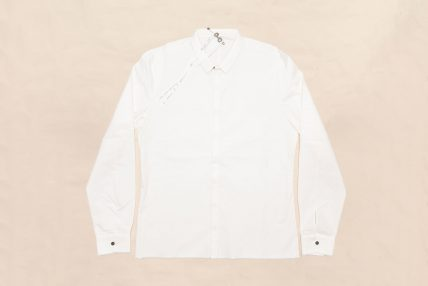 INVISIBLE BUTTONHOLES SHIRT WHITE