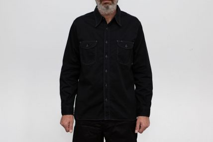 Herringbone Work Shirt - Black