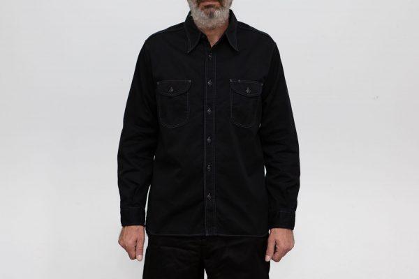 Herringbone Work Shirt - Black