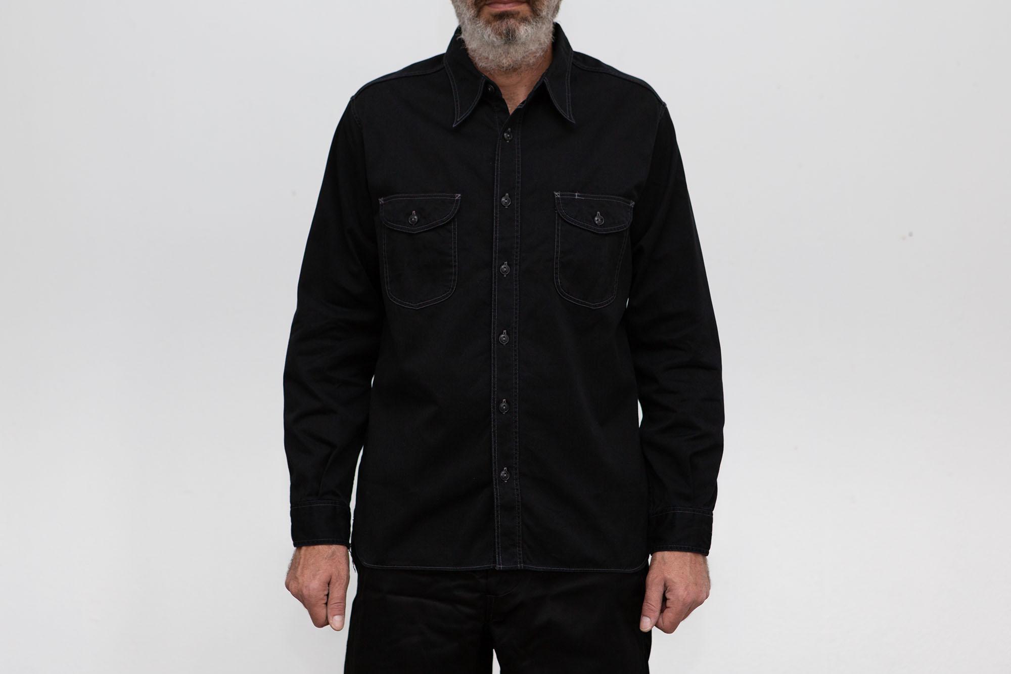 Herringbone Work Shirt – Black