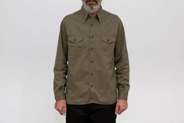 Herringbone Work Shirt Olive